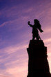 Vertical Silhouette of Landmark with Pink Sky