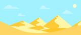Landscape hot desert. Flat design. Vector illustration