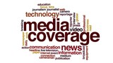 Media coverage animated word cloud.