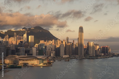 Poster Hong Kong Island at Sunrise