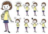 女の子:セット、バリエーション  - 130472112