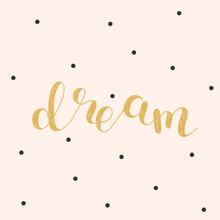 Dream Brush Lettering Illustration Sticker