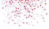 Hearts background, Valentine Day falling heart pink confetti - 130485543