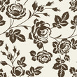 Seamless floral pattern with vintage roses