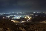 Night View of Al ain City from Jebel Al Hafeet Mountain,
