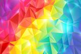 Fototapety 虹色 ポリゴン 背景