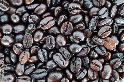 close up of coffee bean background.