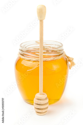 Poster Honey isolated on a white background cutout