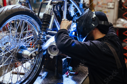 Poster Motor bike repair