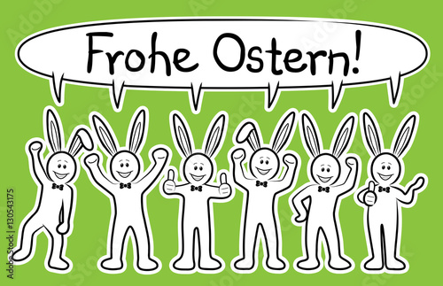 Gamesageddon Frohe Ostern Gruppe Aus Sechs Lustigen Osterhasen
