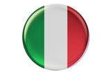 Badge with flag of Italy, 3D rendering