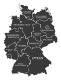 Germany Map labelled black
