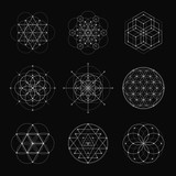 Sacred geometry vector design elements.