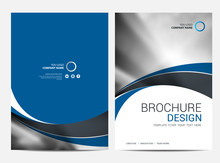 Brochure Template Annual Report  For Business Design Sticker