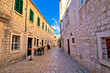 Old stone street of Trogir view