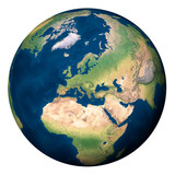 Planet Earth, Europe and part of Asia and Africa - Pianeta Terra, Europa e parte di Asia e Africa