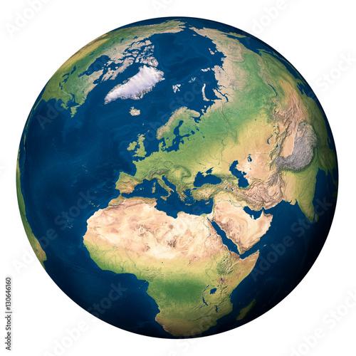 Plexiglas Planet Earth, Europe and part of Asia and Africa - Pianeta Terra, Europa e parte di Asia e Africa
