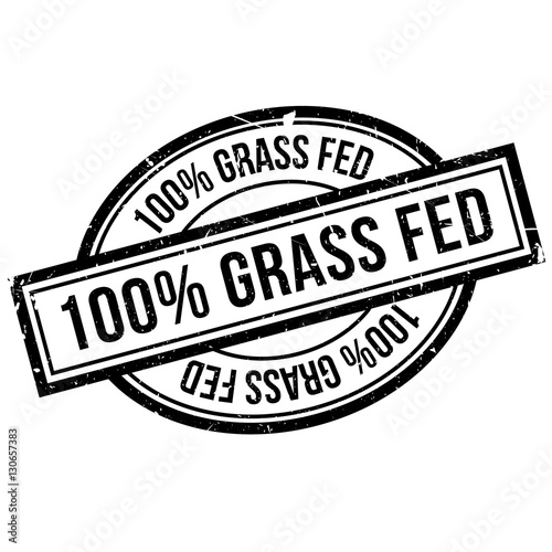 100 percent grass fed rubber stamp. Grunge design with dust scratches. Effects can be easily removed for a clean, crisp look. Color is easily changed.