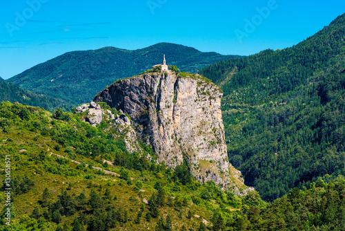 Plagát Church on Giant Rock in Castellane Southern France