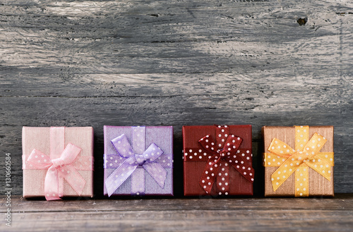 Poster cozy gifts on a wooden surface