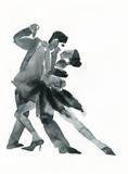 tango dance .watercolor illustration - 130665939