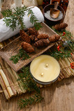 Spa treatment with Christmas decorations  - 130696944