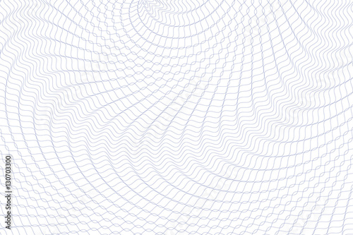 Guilloche background. Monochrome guilloche texture with waves. Original money pattern. For certificate, voucher, banknote, money design, currency, note, check, ticket, reward etc