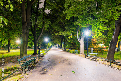 Papiers peints Cracovie Park in central Krakow