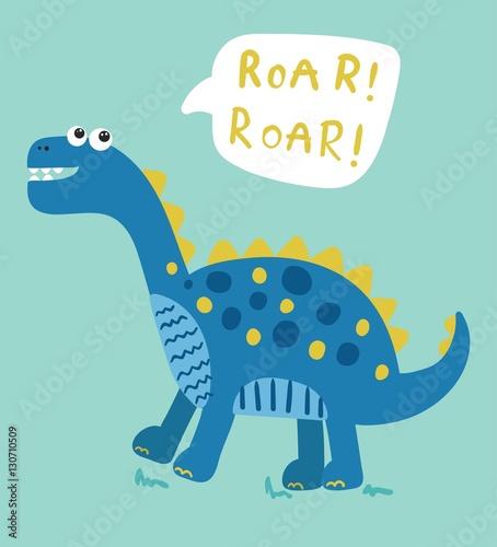 Fototapeta cartoon dinosaur vector illustration