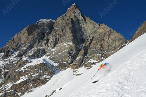 Poster Freerider sci con Cervino sullo sfondo