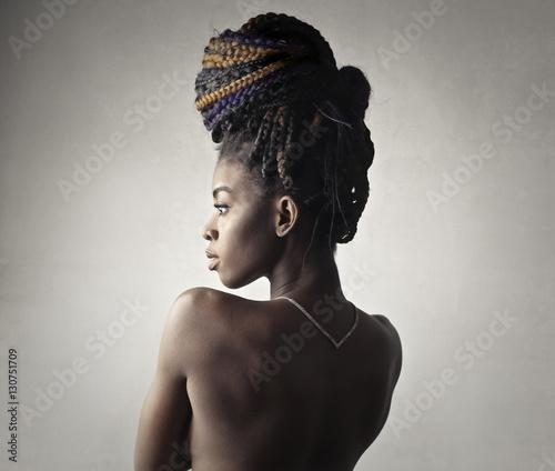Classy woman posing naked