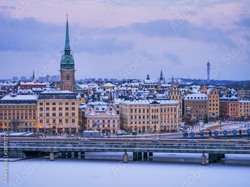 Poster Stoccolma di ghiaccio