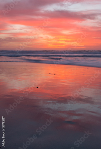 Portrait pictures of Sunset on the west coast Poster