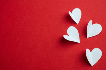Handmade papers hearts - Love background