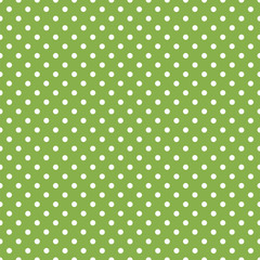 Greenery background, Color of the year 2017 #Seamless vector polka dot pattern