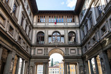 view of Uffizi Gallery in Florence city