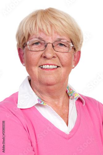 Poster zufriedene seniorin