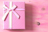 Gift boxes on pink background