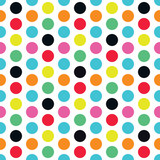 Multicolor polka dot seamless pattern