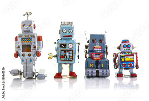 Poster Retro Tin Clockwork Robots