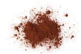 pile cocoa powder isolated on white background - 130870953