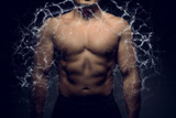 Perfect male upper body with energy