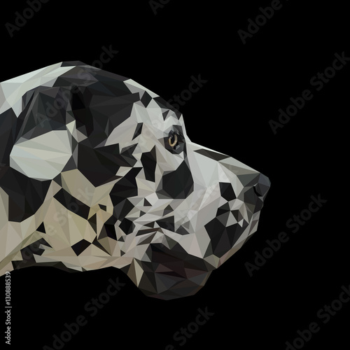 German dogue dog animal low poly design. Triangle vector illustration. © shekularaz