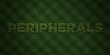 PERIPHERALS - fresh Grass letters with flowers and dandelions - 3D rendered royalty free stock image. Can be used for online banner ads and direct mailers..