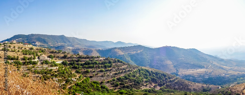 Plexiglas Cyprus Panorama of a mountain valley in Cyprus