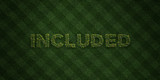 INCLUDED - fresh Grass letters with flowers and dandelions - 3D rendered royalty free stock image. Can be used for online banner ads and direct mailers..