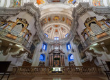 Dome of the Salzburg Cathedral in Austria, interior of the cathedral - 130936343