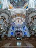 Dome of the Salzburg Cathedral in Austria, interior of the cathedral - 130936360