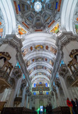 Dome of the Salzburg Cathedral in Austria, interior of the cathedral - 130936364