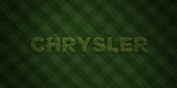 CHRYSLER - fresh Grass letters with flowers and dandelions - 3D rendered royalty free stock image. Can be used for online banner ads and direct mailers.. - 130936374